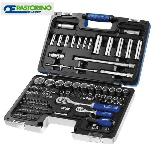 serie bussole Pastorino 'expert' kit da 98 pezzi 1/4' e 1/2'