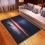 xiangpiaopiao Alfombra Alfombra Hermoso Cielo Paisaje De La Ciudad Cielo Estrellado 3D Impreso Decoración del Hogar Alfombra Suave Antideslizante (03303Dt) 140X200Cm