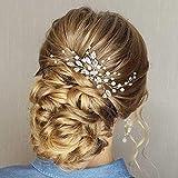 Pines para el pelo de boda Simly, accesorios para novia y dama de honor (plata) FS-28