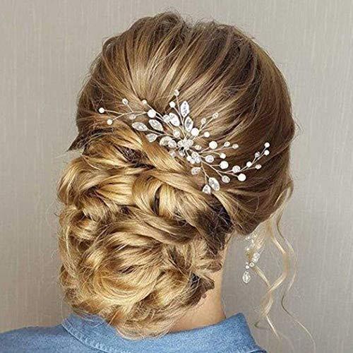 Accessoire de cheveux en cristaux Simsly pour mariée et...