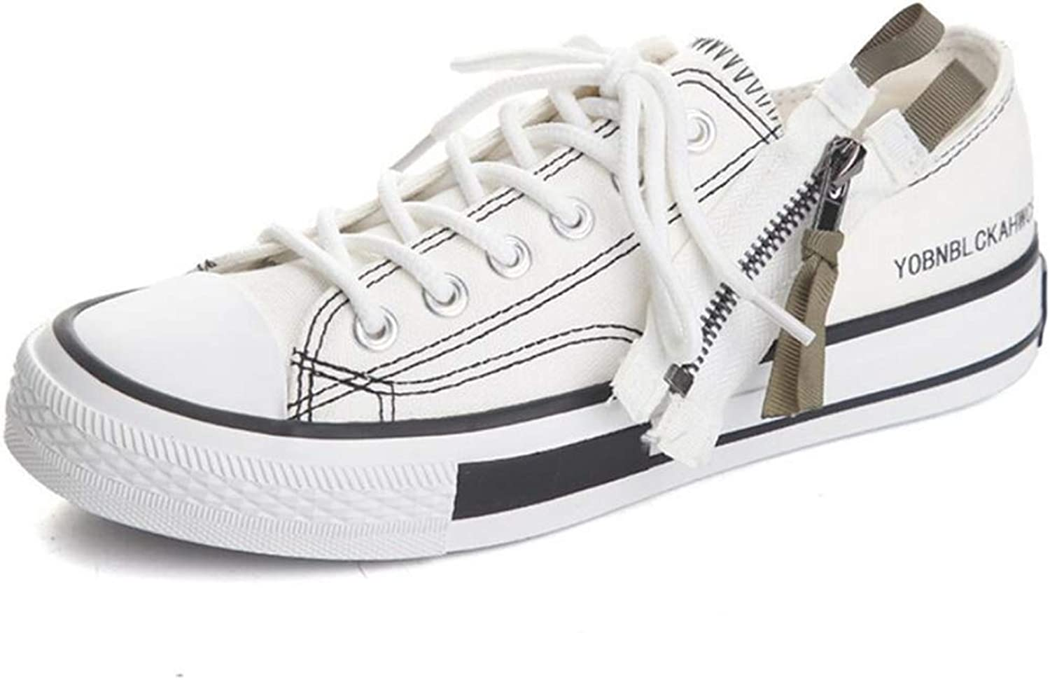 ZXMxi New Wild Female Canvas shoes Student Breathable White shoes