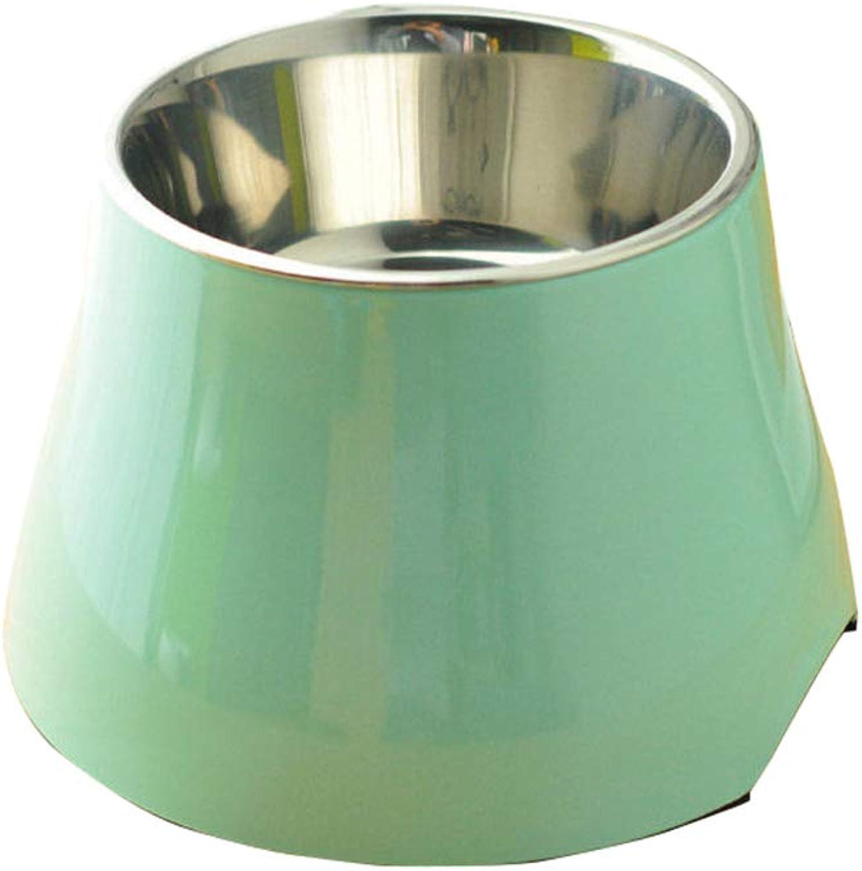 Feeding Bowl cat Bowl Dog Bowl cat Pot pet Food Bowl cat Bowl cat Supplies,Green,M
