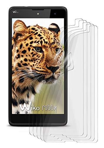 5X Wiko Robby | Schutzfolie Matt Bildschirm Schutz [Anti-Reflex] Screen Protector Fingerprint Handy-Folie Matte Bildschirmschutz-Folie für Wiko Robby Bildschirmfolie