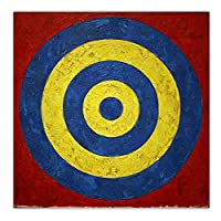 Mmpcpdd ジャスパージョーンズ《ターゲット》キャンバスアート油絵アートワークポスター画像ウォールアートデコレーションホームリビングルームデコレーション-60X60Cmx1フレームなし