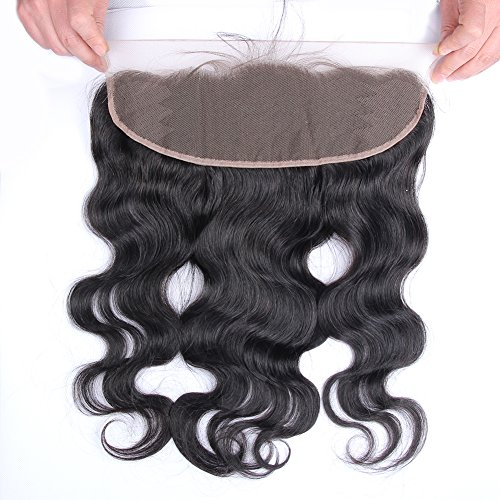 Beata Hair Free Part 13x4 inch Body Wave Lace Frontal Closure Lightly Bleached Knots With Baby Hair 14inch