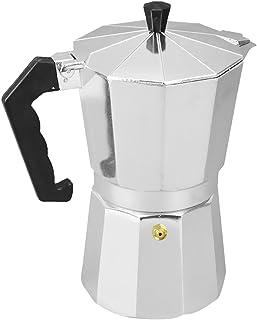 【ノーブランド品】 アルミ製 コーヒーモカメーカー モカポット ラッテ ストーブ パーコレーター 調理器具 4パタン選べ - 銀, 3杯