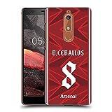Head Case Designs Officiel Arsenal FC Dani Ceballos 2020/21 Joueurs Home Kit Groupe 1 Coque Dure...