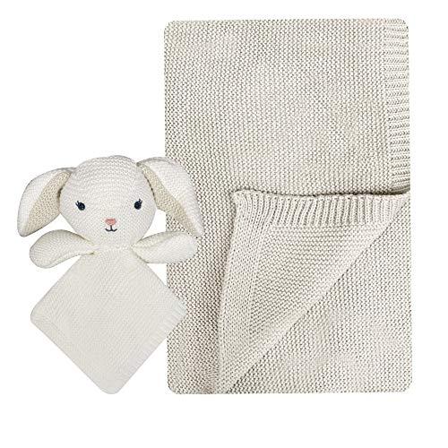 Conjunto de manta de bebé moderno con manta de seguridad para bebé recién nacido a niño pequeño, manta de punto