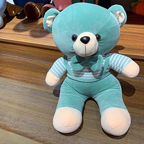 DOUFUZZ SNHPP Plüsch Spielzeug mit Bär Puppe Schlingen Schlingen Schleuder Ultra-weiche Kissen Puppe Unternehmen Event Geschenk 32 cm Grün
