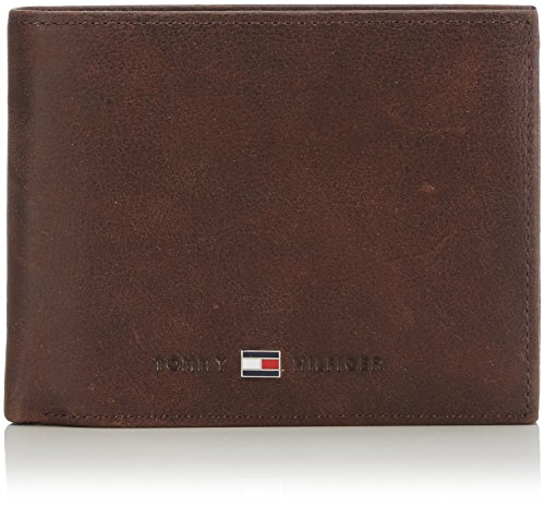 Tommy Hilfiger Johnson CC Flap and Coin Pocket, Cartera Hombre^Mujer, Brown, OS