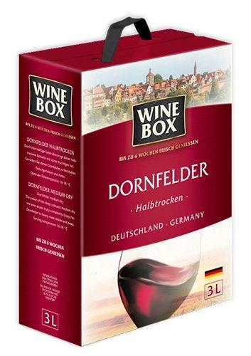 WeinBox Dornfelder Halbtrocken Rotwein Bag in Box 3L