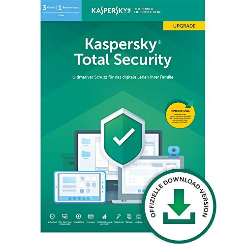 Kaspersky Total Security 2020 Upgrade | 3 Geräte | 1 Jahr | Windows/Mac/Android | Aktivierungscode per Email