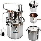 8 Gal 33L Alcohol Distiller Moonshine Still Copper Tube Still Kits Water Distiller Wine Boiler Home Brewing Kit with Thumper Keg Stainless Steel (8 Gal / 33L)