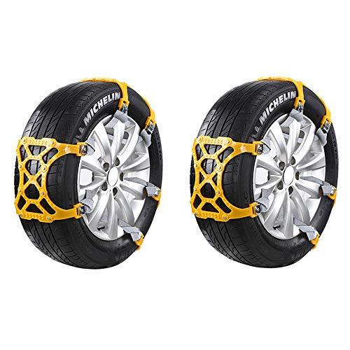 Chaines à neige 6 pièces Chaussettes à neige antidérapantes pour sécurité routière Convient pour roues de 165 mm - 265 mm - Facile à installer