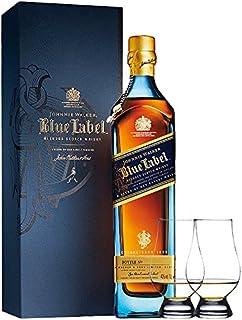 Johnnie Walker Blue Label Blended Scotch Whisky 0,7 Liter  2 Glencairn Gläser