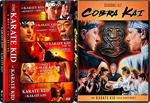The Karate Kid 5-Movie Collection / Cobra Kai Seasons 1 - 2 (DVD 2-Set Pack)