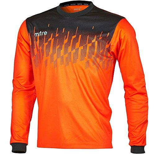 Mitre Command Goalkeeper Camiseta de Fútbol, Unisex Adulto, Mandarina/Negro, L