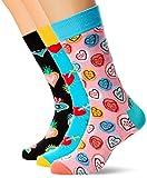 Happy Socks Herren I Love You Gift Box Socken, Mehrfarbig (Multicolour 100), 7/10 (Herstellergröße: 41-46) (3er Pack)