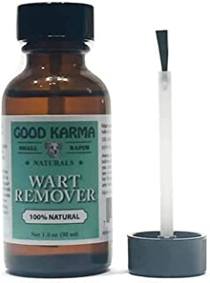 GOOD KARMA NATURALS All Natural Wart Remover for Dogs (1 oz) with Brush Cap 100% Natural Painless Dog Warts Removal Treatm...