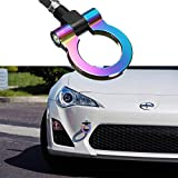 Xotic Tech JDM Sport Track Racing Style CNC Aluminum Screw-on Tow Hook Front Rear Bumper Compatible with Scion FRS, Subaru BRZ WRX (NEO)