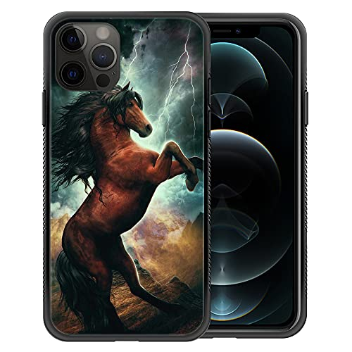 ZHEGAILIAN iPhone 13 Pro Max Case,Extraordinary Spirit Horse iPhone 13 Pro Max Cases for Boys,Non-Slip Back Cover[Shock Absorption] Soft TPU Bumper Frame Support Case for iPhone 13 Pro Max 6.7-inch