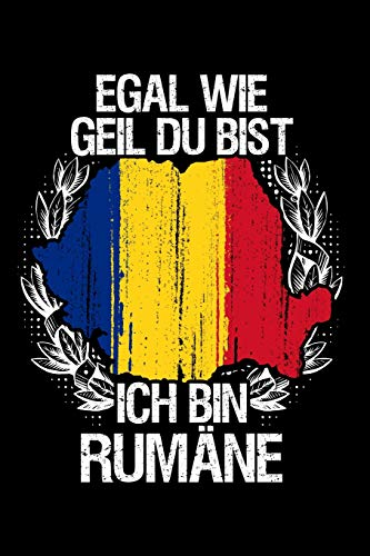 Rumänen sind cooler: Notizbuch / Notizheft für Rumänien Romania Rumäne Tricou Romania Trikot Rumänien A5 (6x9in) dotted Punktraster