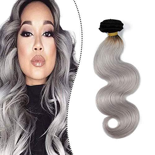 Extensiones de cabello natural color gris de Ugeat