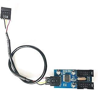 homewineasy マザーボードのUSB 9ピン 増設 内部用4ポートUSB2.0 HUB 9ピンUSBヘッダーオス1〜2雌エクステンションスプリッターケーブル9Pコネクターアダプター