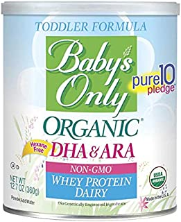 Baby's Only Organic Non-GMO Dairy Whey Protein with DHA & ARA Toddler Formula, 12.7 oz