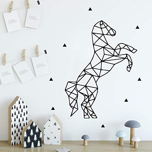 Sanzangtang Muursticker met leuke paard, decoratie voor kinderkamer, waterdicht