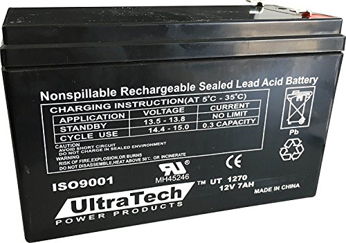 UltraTech UT1270 12V 7 Ah Sealed Lead Acid Alarm Battery UT-1270