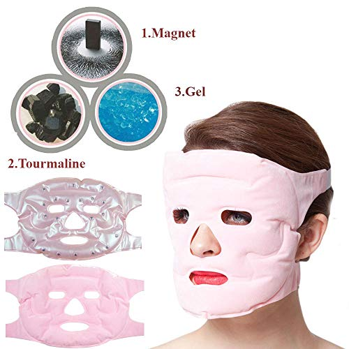 Winnes Gesicht Maske,Wiederverwendbare Gesichts Schönheits Maske Anti Age Hautpflege Werkzeuge Magnetische Maske Anti-Allergie Gesichtsentspannungsmassage Maske Feuchtigkeitsspendende
