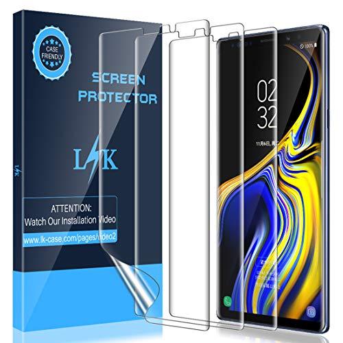 LK Protector de Pantalla para Samsung Galaxy Note 9 Protector de Pantalla,[3 Piezas] [Admite la función de Huella Digital] [Película Protectora de TPU][Alta Definición y Sensibilidad]