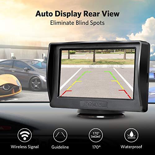 BOSCAM Rückfahrkamera und Monitor Set K1 Wireless Einparkhilfe mit 14.4 cm/4.3
