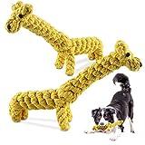 Juguetes para Perros, Juguetes para Perros Cachorros, 2 Piezas Juguete de Cuerda de Perro Masticable Duradero, la Cuerda de Algodón Natural es Adecuada para Limpiar los Dientes de los Cachorros
