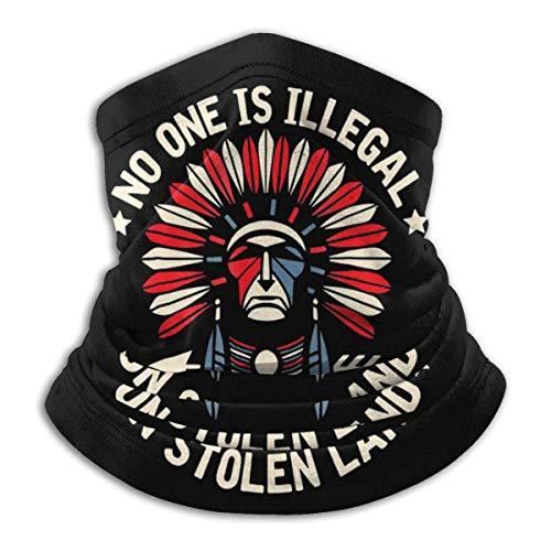 Overlooked Shop Pasamontañas Nadie es Ilegal en Tierra robada Inmigrante indígena Cubre la Cara Polaina para el Cuello Pasamontañas Multifuncional