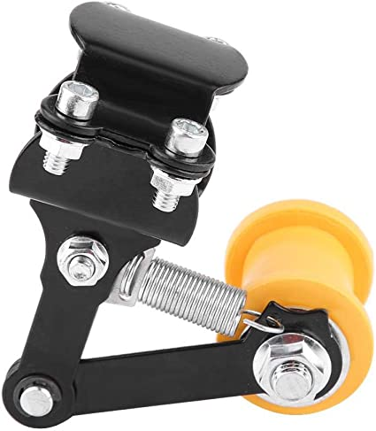 tendicatena in alluminio per motocicletta Regolatore automatico su attrezzo a rullo Nero Tendicinghia