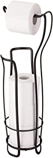 iDesign Axis Metal Free Standing Toilet Paper Tissue Holder, Roll Reserve Canister for Kid's, Guest, Master, Office Bathroom, 8