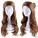 Ani·Lnc lange gewellte Brown Belle synthetische Cosplay Haar Perücken für Frauen