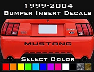 mustang letter decals