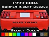 UNDERGROUND DESIGNS Mustang Rear Bumper Decals Letter Insert Stickers 1999-2004 Select Color (Gloss Black)