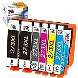Starink Remanufactured Ink Cartridge Replacement for Epson 273 XL 273XL T273XL T273 for Expression XP-820 XP-610 XP-520 XP-620 XP-800 XP-810 XP-600 Printer, 6Pack (2 Black, Cyan, Magenta, Yellow, PBK)