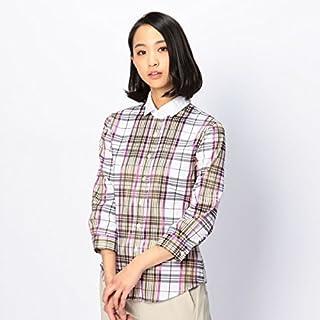 ナラカミーチェ(NARACAMICIE) レース襟七分袖チェックシャツ