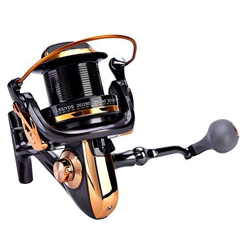 CDSL Carrete de Pesca Carrete De Pesca 14 + 1BB Metálico De Alta Velocidad Metálico Spinning Pesca De Pesca Carrete De Ruedas Accesorios De Aparejos (9000)