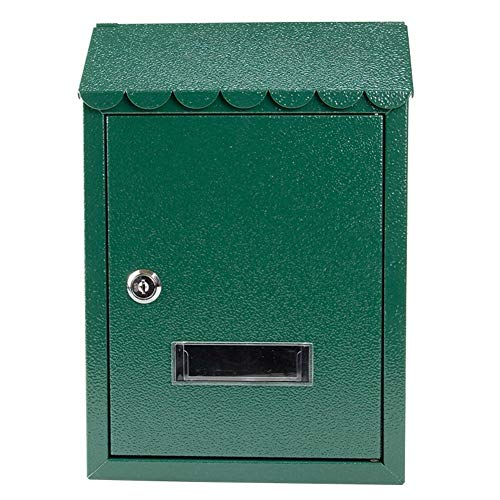 ZSIF mailbox, Europese pastorale wandbrievenbus met slot, creatieve regendichte brievenbus, afmeting: 21x6x30.5cm