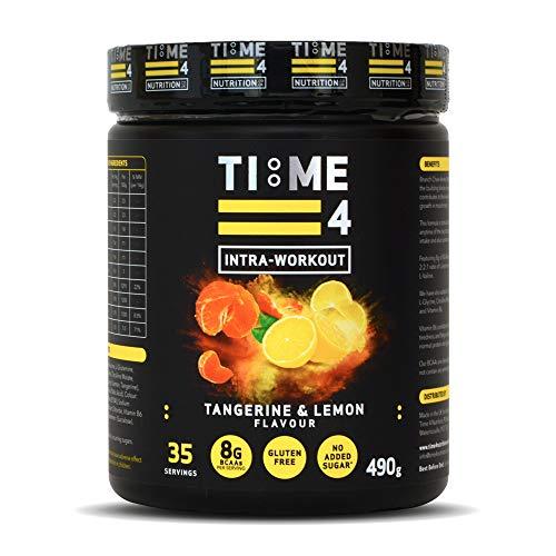 Time 4 Intra-Workout 490g Amino Acid Powder – 35 Servings BCAAs Powder – Fermented BCAA Powders – BCAA Amino Acids - Plant Based Amino Acid (Tangerine & Lemon)