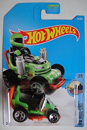 Hot Wheels, 2017 HW Ride-Ons, Grass Chomper Ride-On Lawnmower [Verde] 45/365