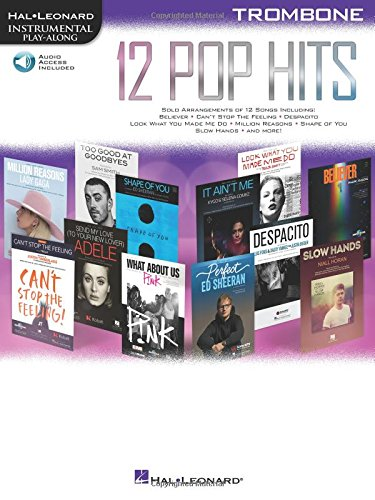 12 Pop Hits: Trombone (Hal Leonard Instrumental Play-along)
