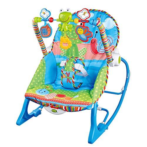 LYN&xxx Baby-Schaukel Und Stuhl, Babyschaukelstuhl Reden Komfort Baby Baby Multifunktionale Musik Vibration Shaker Kinder Freizeit Schaukelstuhl mit verstellbaren Rücken