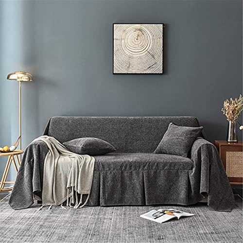 DERUKK-TY Manta de sofá - Fundas de sofá universales Suaves y Lavables - Fundas de sofá Cojín Four Seasons Funda de sofá - para sofá Cama de Viaje, Amarillo, 200 * 300 cm
